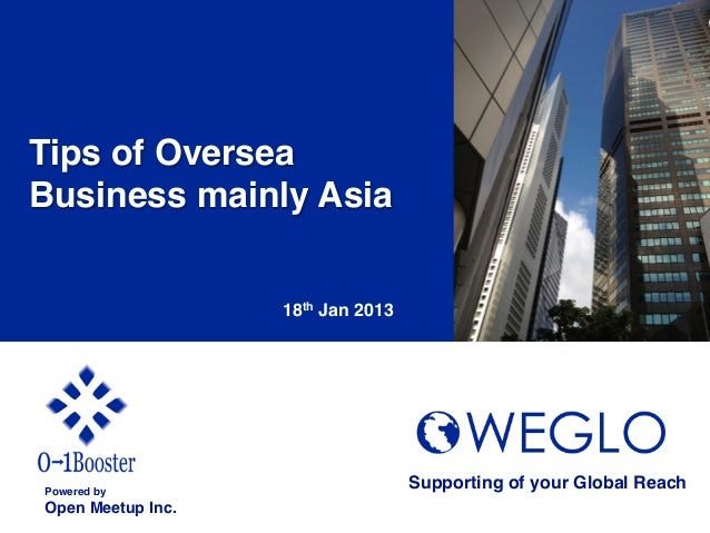 Tips of OverseaBusiness mainly Asia!                     18th Jan 2013	Powered by!                                       S...