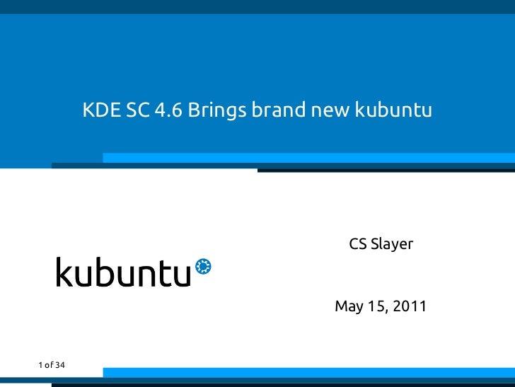 KDE SC 4.6 Brings brand new kubuntu