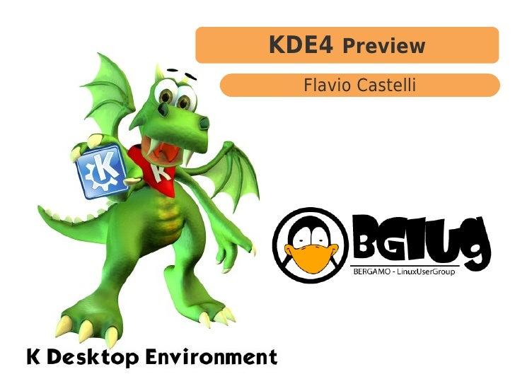 KDE4 Preview  Flavio Castelli