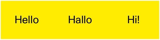 Hello Hallo Hi!