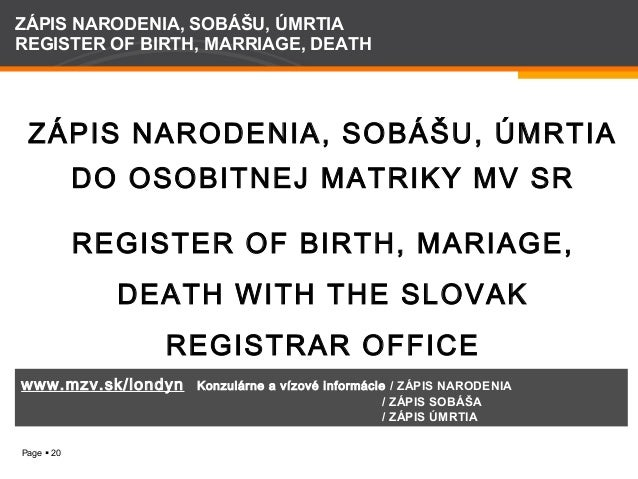 Slovak Consular Services in Glasgow, 27 and 28 March 2014