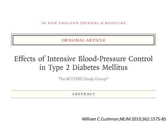 Action to Control Cardiovascular Risk in Diabetes (ACCORD)