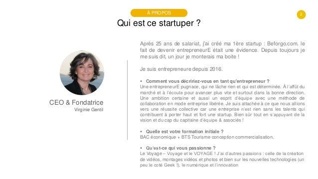 #PortraitDeStartuper #26 - BEFORGO - Virginie Gentil Slide 2