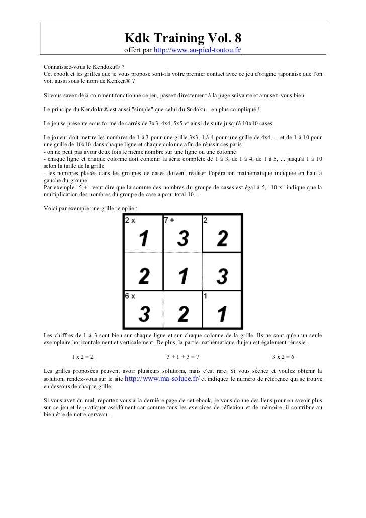 Kdk Training Vol. 8                                 offert par http://www.au-pied-toutou.fr/Connaissez-vous le Kendoku® ?C...