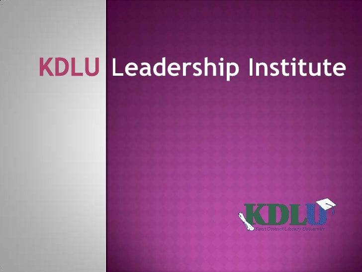 KDLU Leadership Institute<br />