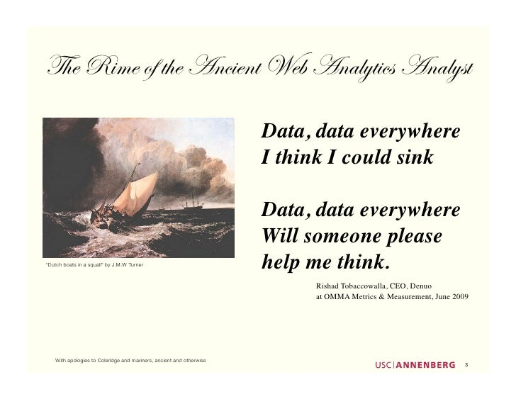 The Rime of the Ancient Web Analytics Analyst                                                                        Data,...