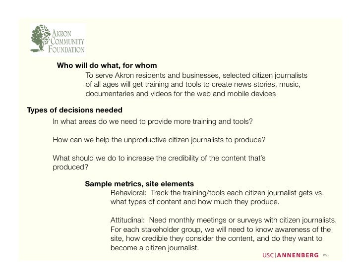 Who will do what, for whom                To serve Akron residents and businesses, selected citizen journalists           ...