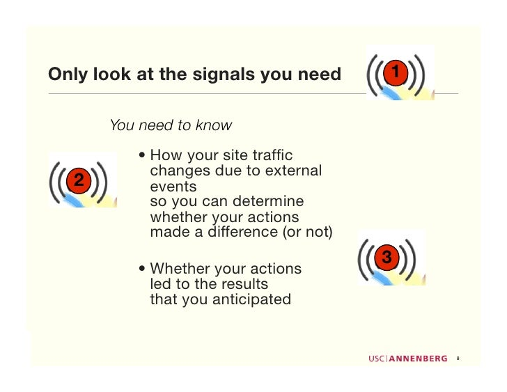 Only look at the signals you need        1        You need to know           • How your site traffic             changes du...