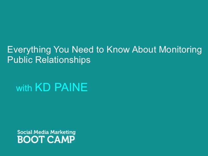 Everything You Need to Know About Monitoring Public Relationships <ul><li>with  KD PAINE </li></ul>