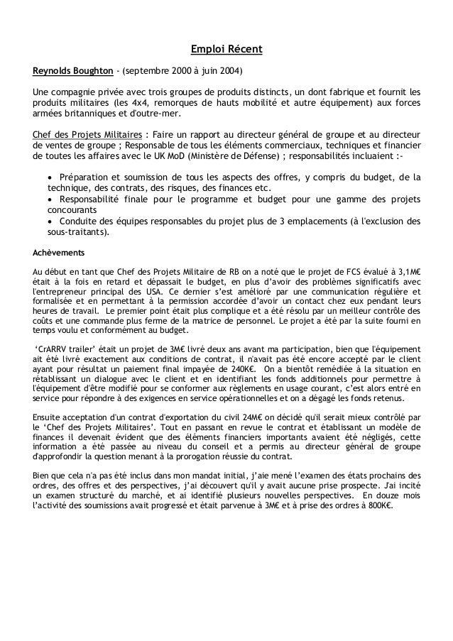 cv english in french pdf