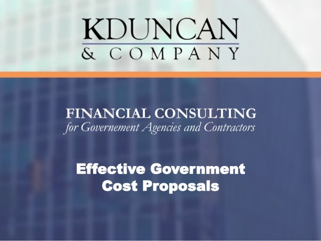 Effective Government Cost Proposals