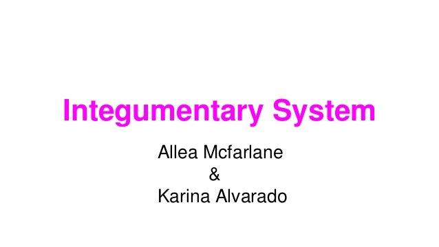 Integumentary System Allea Mcfarlane & Karina Alvarado