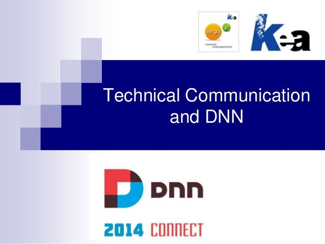 Technical Communication and DNN