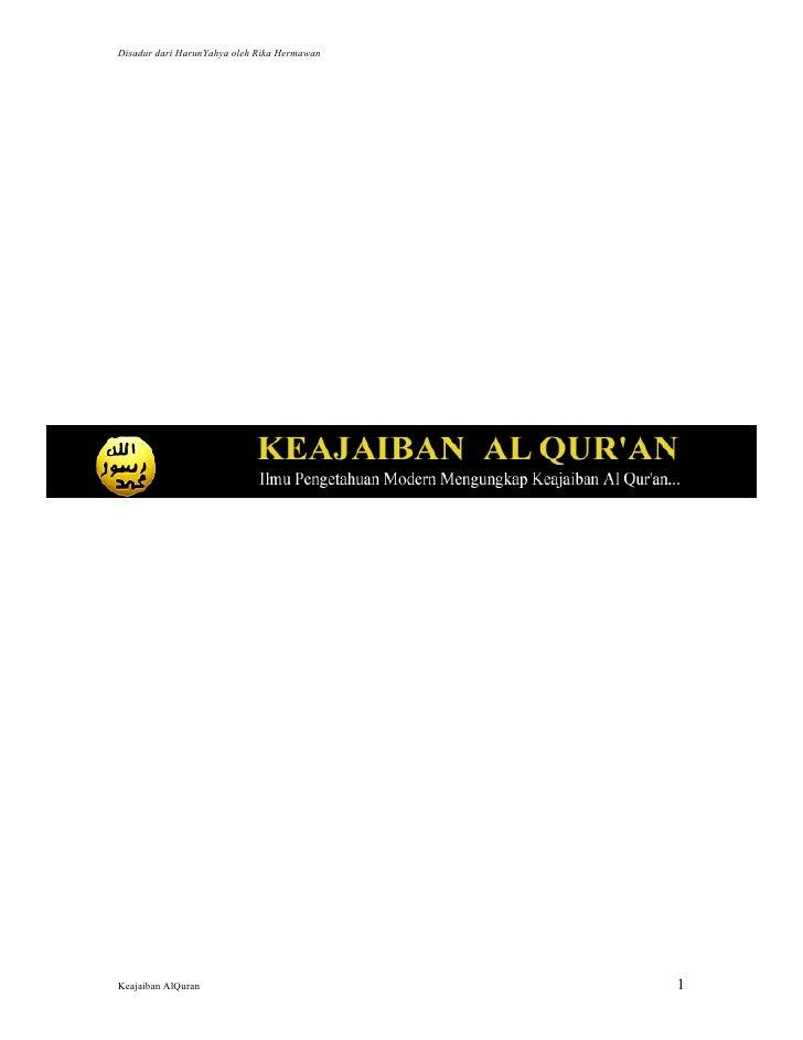 Disadur dari HarunYahya oleh Rika HermawanKeajaiban AlQuran                            1