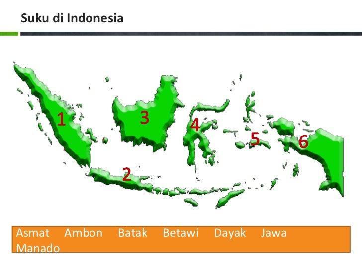 Suku di IndonesiaAsmat Ambon     Batak   Betawi   Dayak   JawaManado