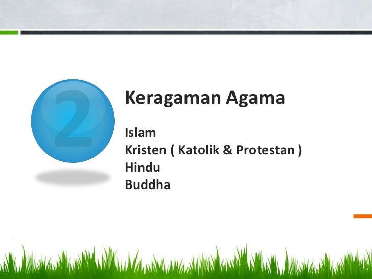 Keragaman AgamaIslamKristen ( Katolik & Protestan )HinduBuddha