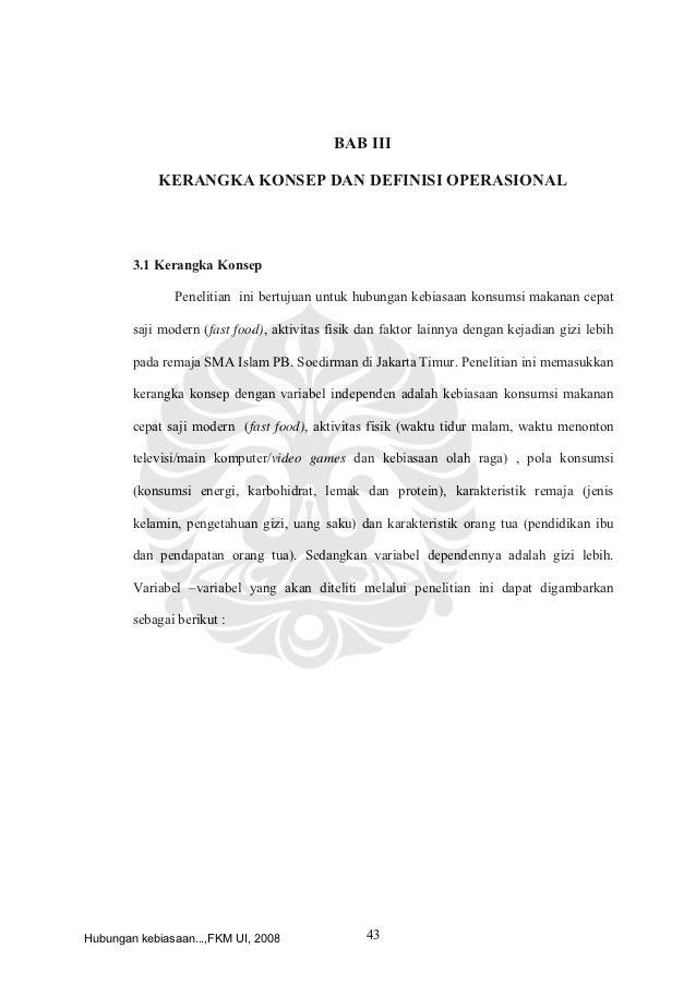 Contoh Judul KTI/Skripsi FKM-Gizi