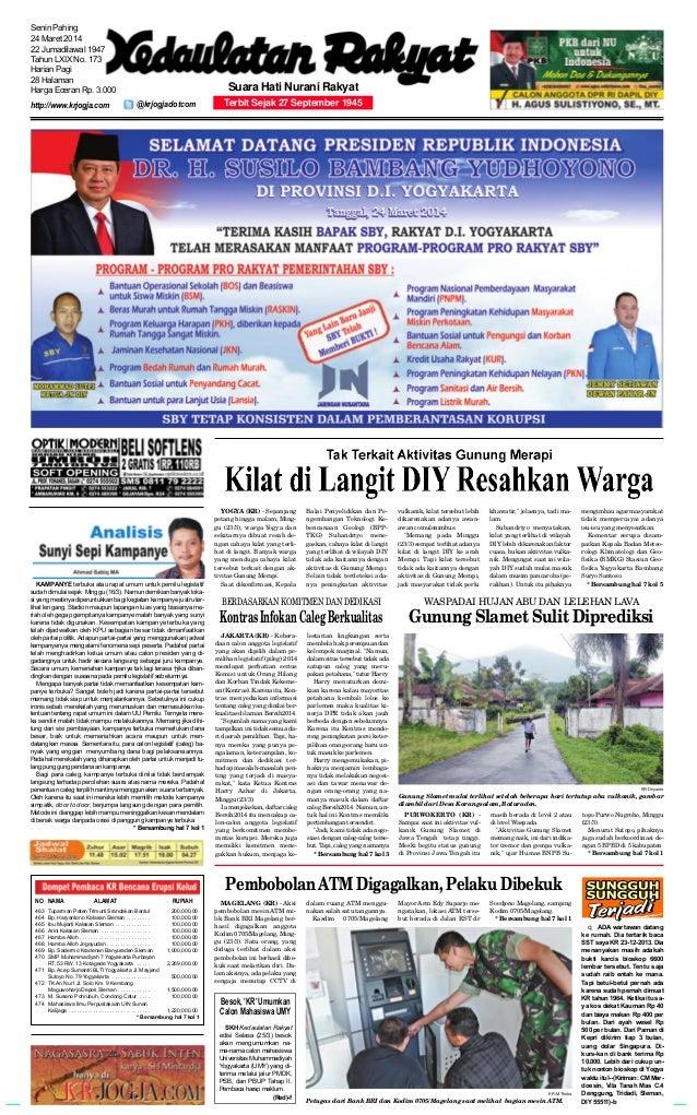 PURWOKERTO (KR) - Sampai saat ini aktivitas vul- kanik Gunung Slamet di Jawa Tengah tetap tinggi. Meski begitu status gunu...