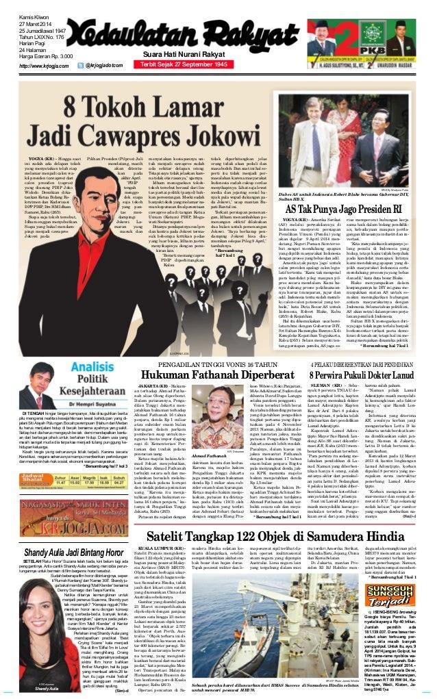 JAKARTA(KR) - Hukum- an terhadap Ahmad Fatha- nah alias Olong diperberat. Dalam putusannya, Penga- dilan Tinggi Jakarta me...