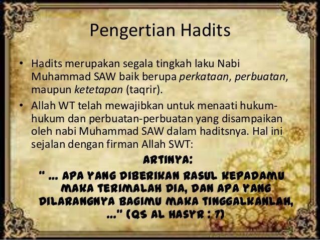 Citaten Quran Hadits : Kedudukan dan fungsi hadits terhadap al qur an