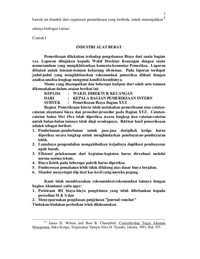 Kedudukan Dan Fungsi Internal Auditor Pada Pt Citra Bangun Medan