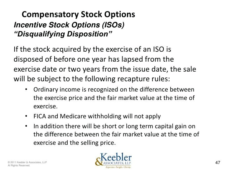 Stock options fica