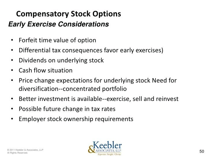 Exercised stock options tax implications