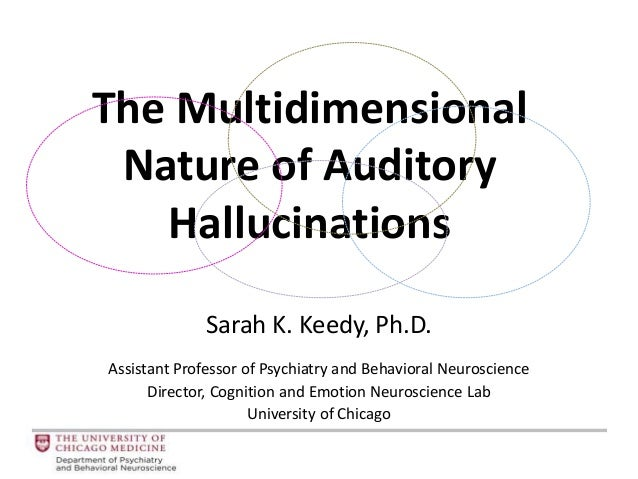 The Multidimensional Nature of Auditory Hallucinations Sarah K. Keedy, Ph.D. Assistant Professor of Psychiatry and Behavio...