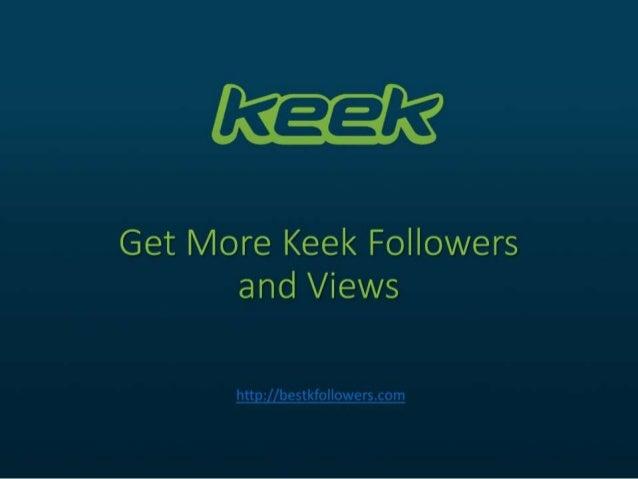 Keek gain followers