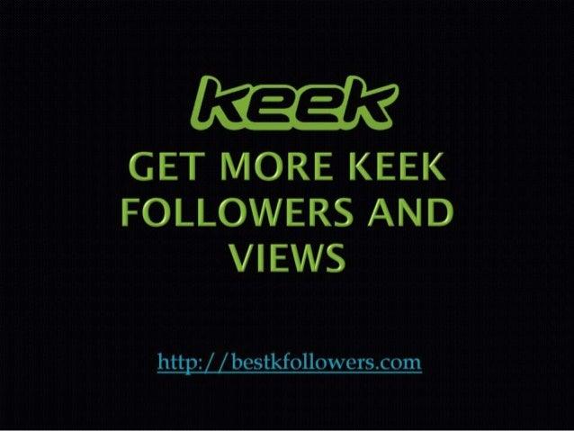 Keek web log in