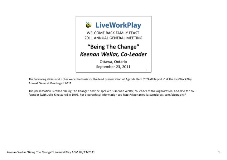 """The following slides and notes were the basis for the lead presentation of Agenda Item 7 """"Staff Reports"""" at the LiveWorkPl..."""