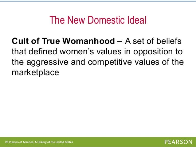 """the influence of the cult of true womanhood on the society throughout all of americas history And citizenship in the americas  comprehend change in continuity in history through  indians and the cult of true womanhood"""" (all."""