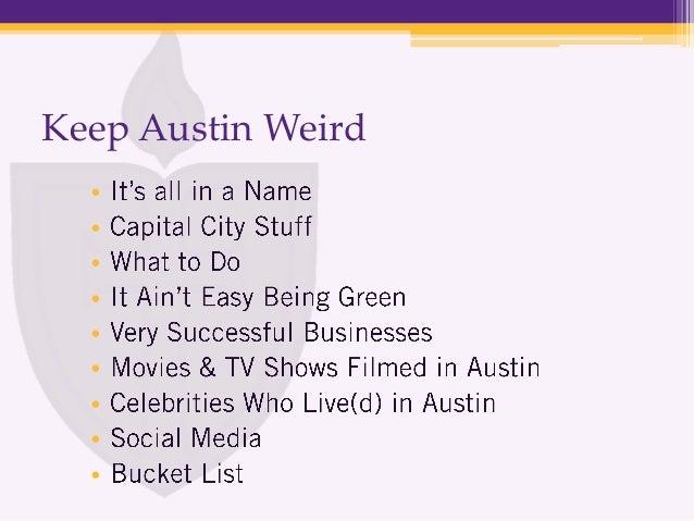 keep austin weird 2013