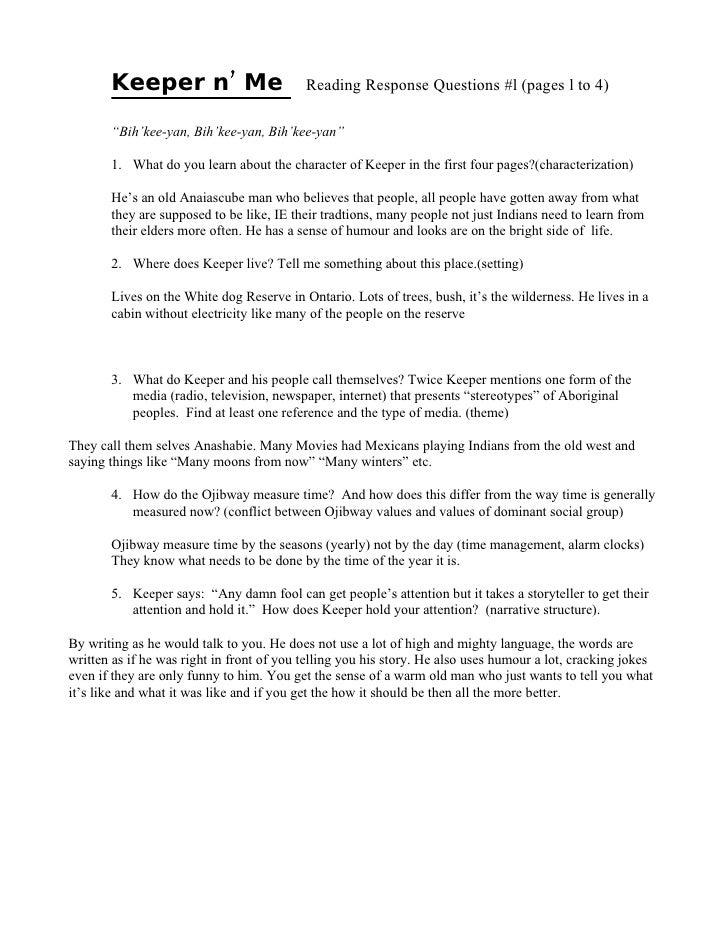 Essay on keeper n me