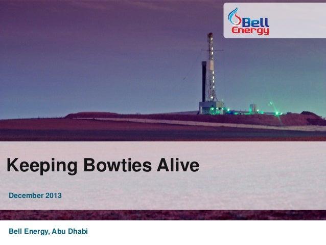 Keeping Bowties Alive December 2013 Bell Energy, Abu Dhabi