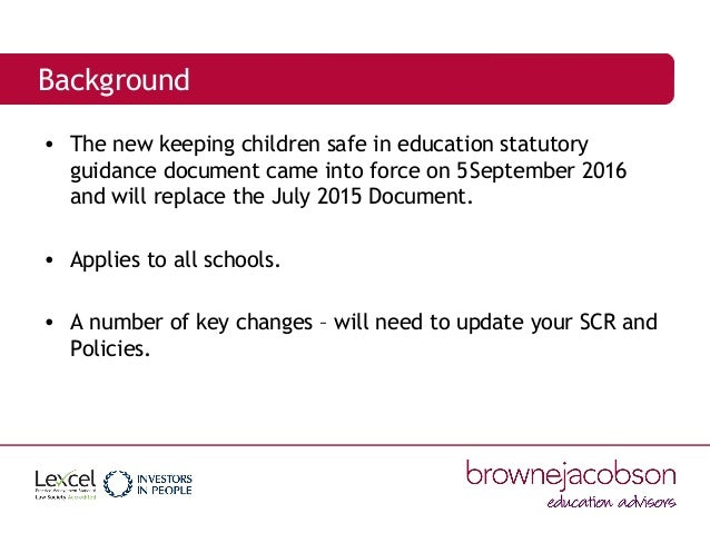 keeping children safe in education Keeping children safe in education is statutory guidance that schools  schools  and colleges and their staff are an important part of the wider.