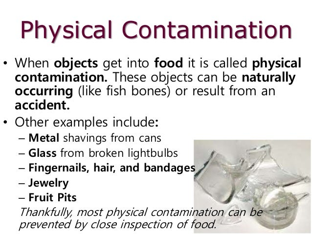 physical contamination of food