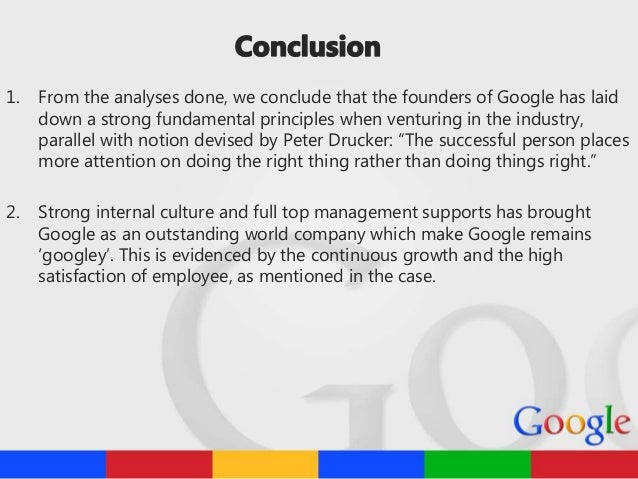 summary of keeping google googley Google inc (abridged) case solution, describe the history of google business model, governance structure,  (abridged) keeping google googley (abridged).