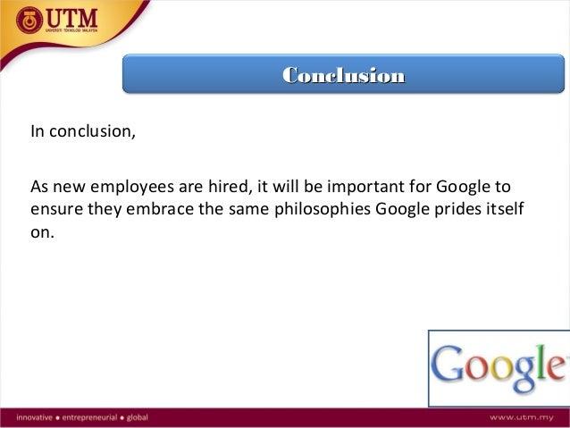 Keeping Google Googley Harvard Case Solution & Analysis