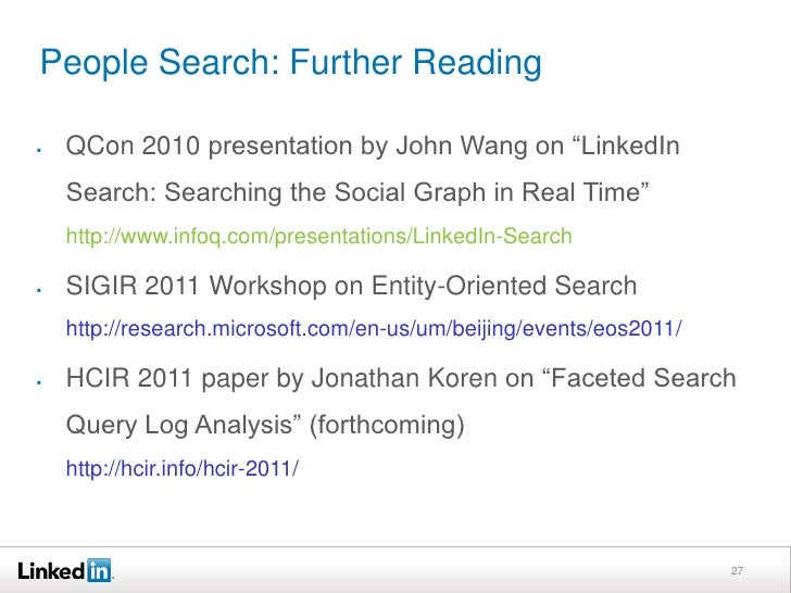 People Search: Network Facet<br />15<br />