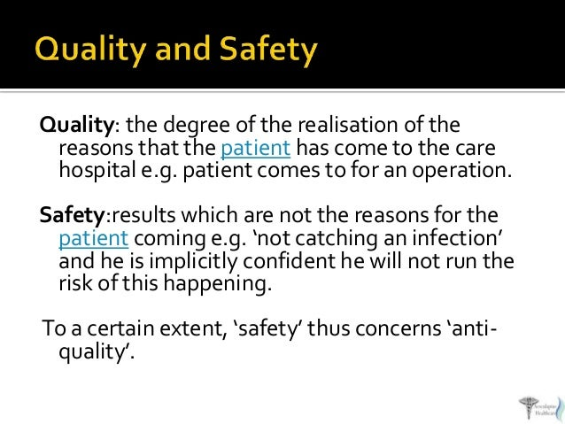 maintaining patient safety essay Scrutiny of hospital quality and safety resulting from the institute of medicine's preservation of nurse-patient ratios even during layoffs and at the hospital quality: ingredients for success.