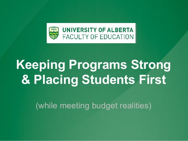 Keeping Programs Strong & Placing Students First