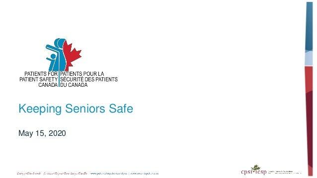 Keeping Seniors Safe May 15, 2020