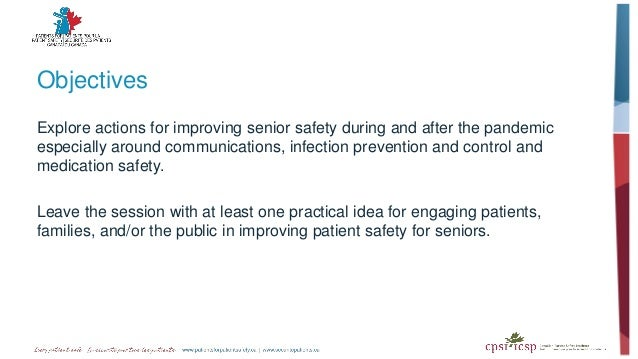 Objectives Explore actions for improving senior safety during and after the pandemic especially around communications, inf...
