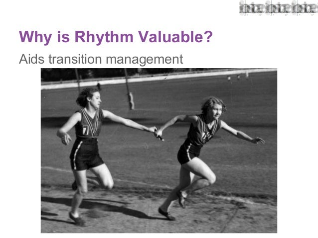 Keeping the beat rhythm and trust in architecture for Rhythm by transition