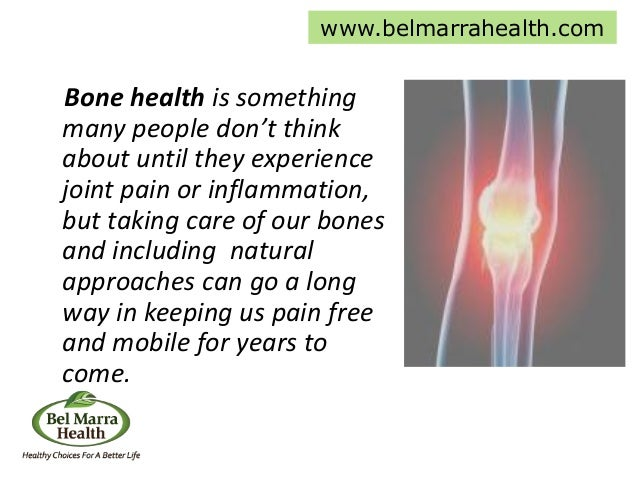 Bone health is something many people don't think about until they experience joint pain or inflammation, but taking care o...
