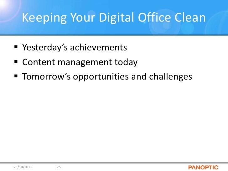 Keeping Your Digital Office Clean Wim Putzeys Panoptic