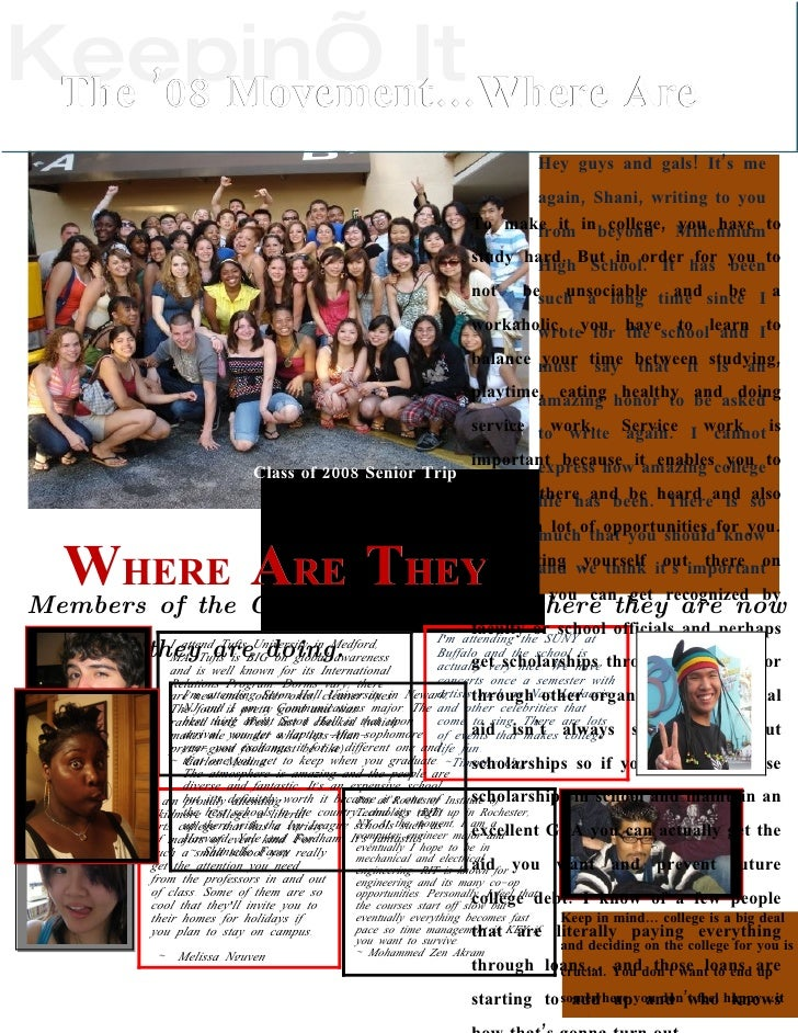 "Keepin' It Where Are  The '08 Movement…                       Newsletter Written By Shantelle ""Shani"" Facey               ..."