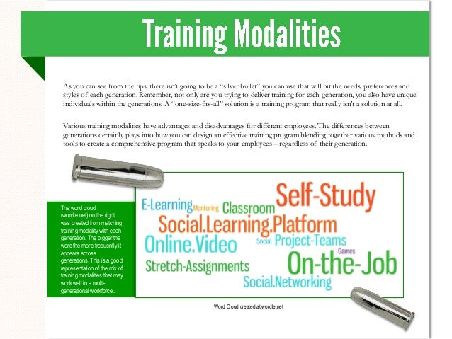 Advantages and Disadvantages of Modalities of Training