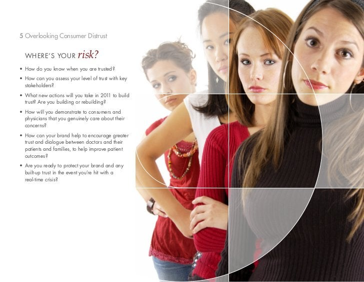 5 Overlooking Consumer Distrust  WHERE'S YOUR            risk?• How do you know when you are trusted?• How can you assess ...